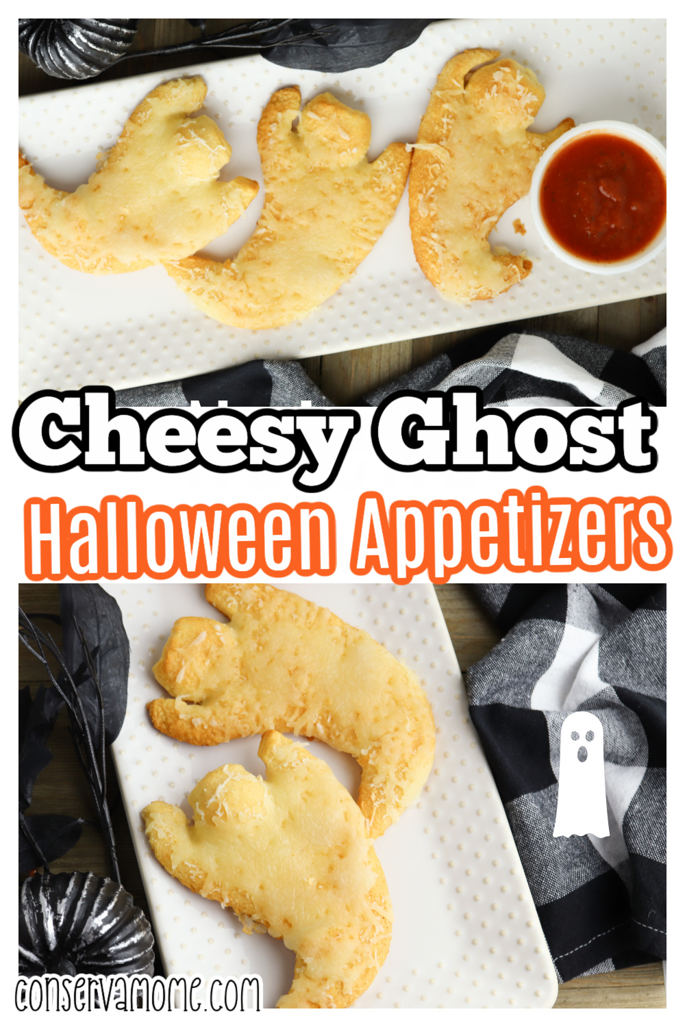 Easy & Cheesy Ghost Halloween Appetizer