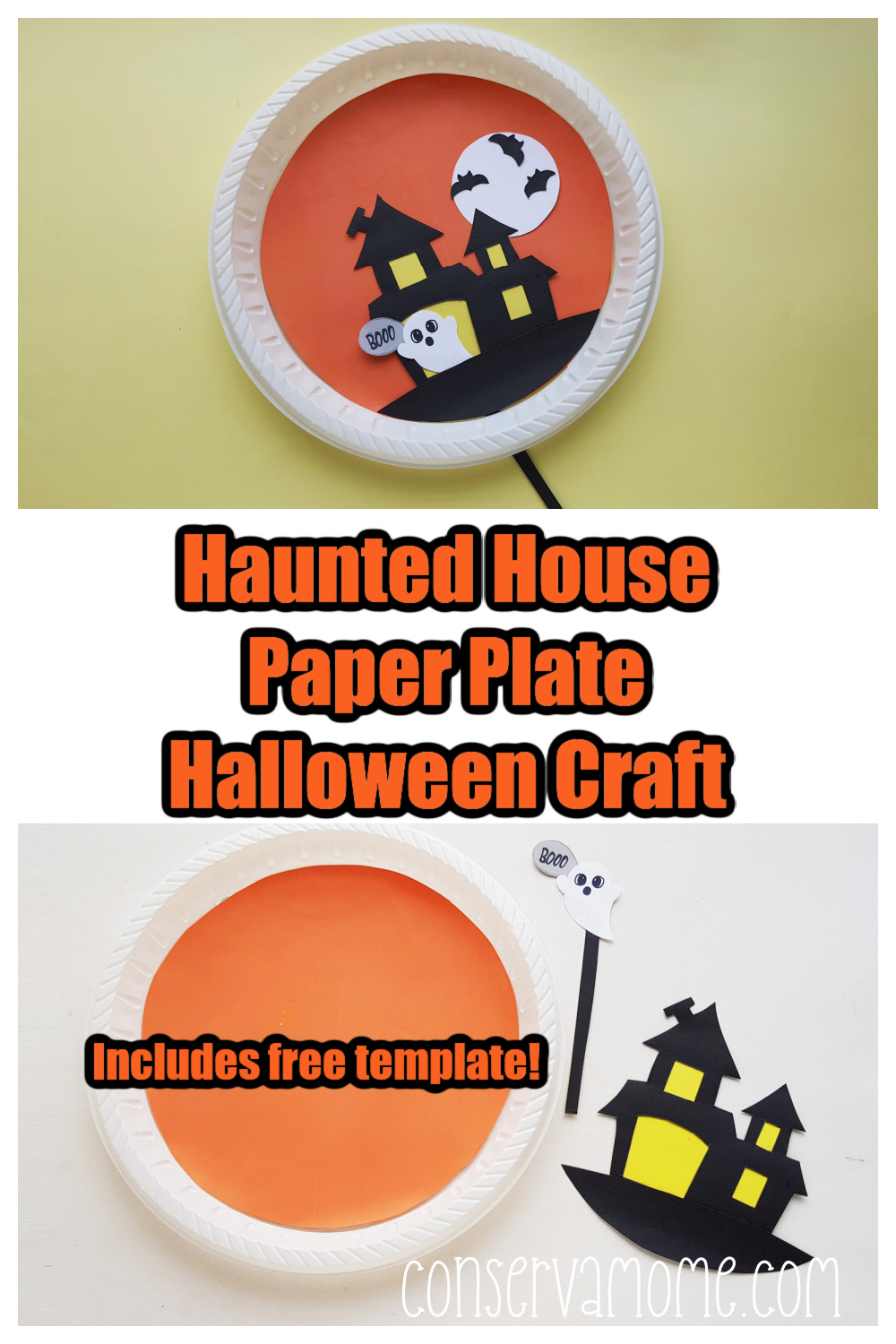 Haunted House Paper Plate Halloween Craft