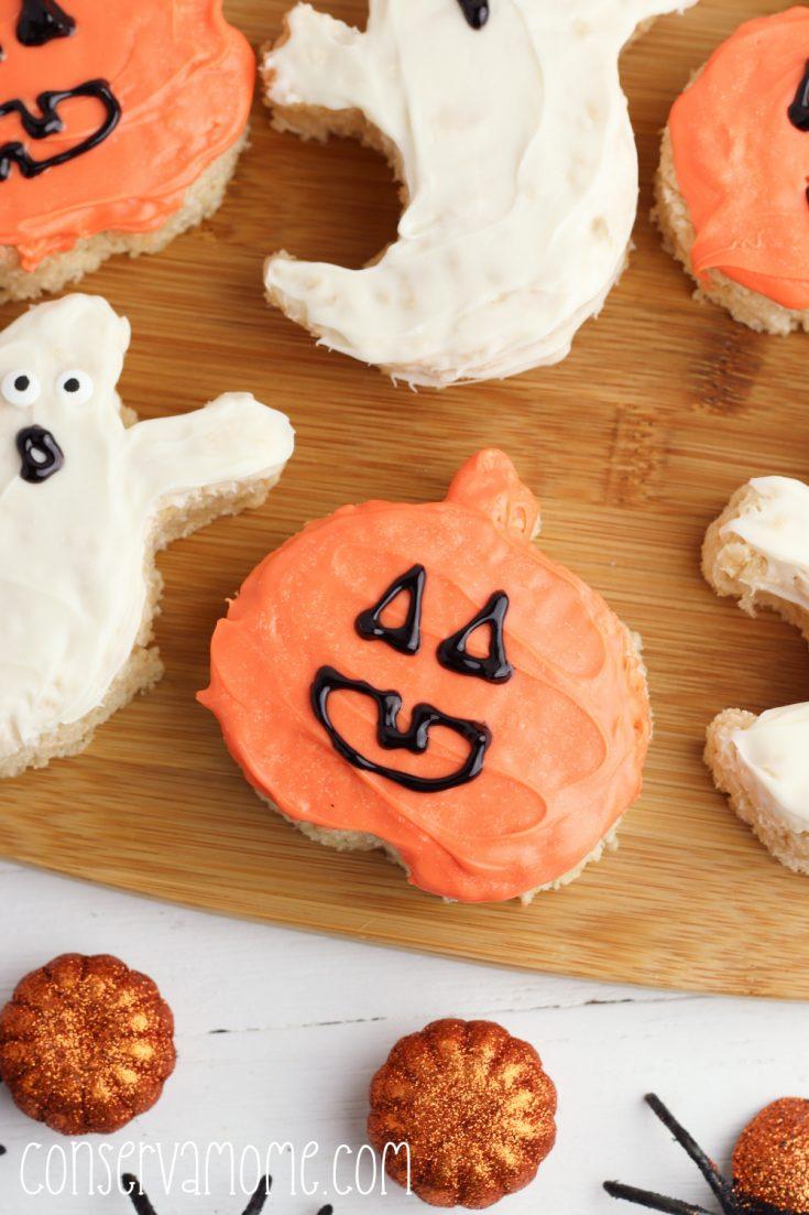 Spooktacular Halloween Rice Krispie treats