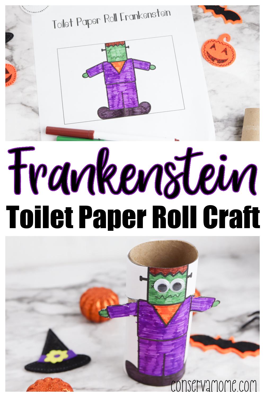 Frankenstein Toilet paper roll craft